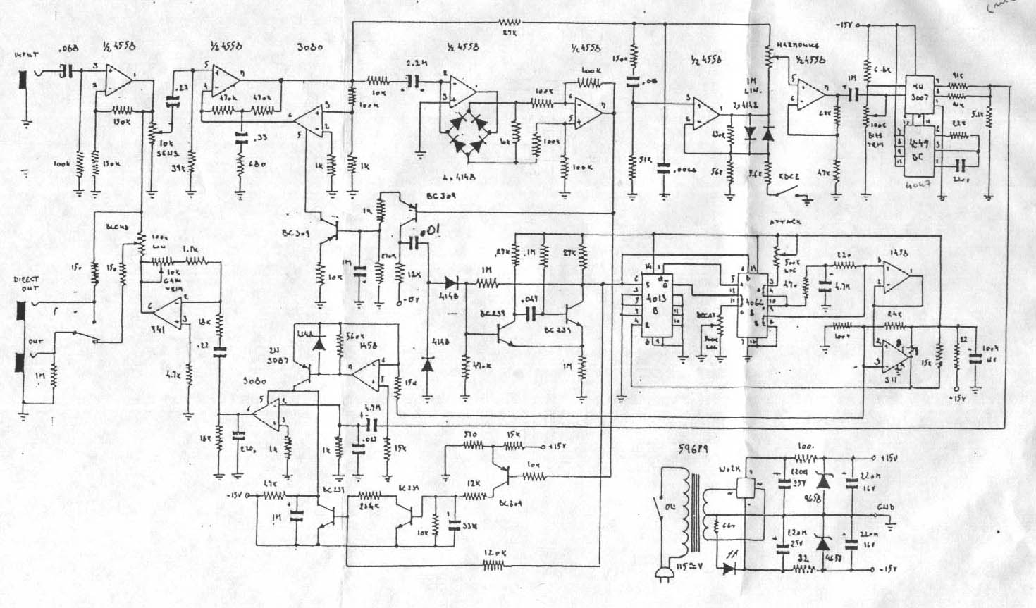 Selected Schematics Tremolo Effect Circuit Using Ua741 The Eh Mans Site Is Place For Info Check Out Cool Articles