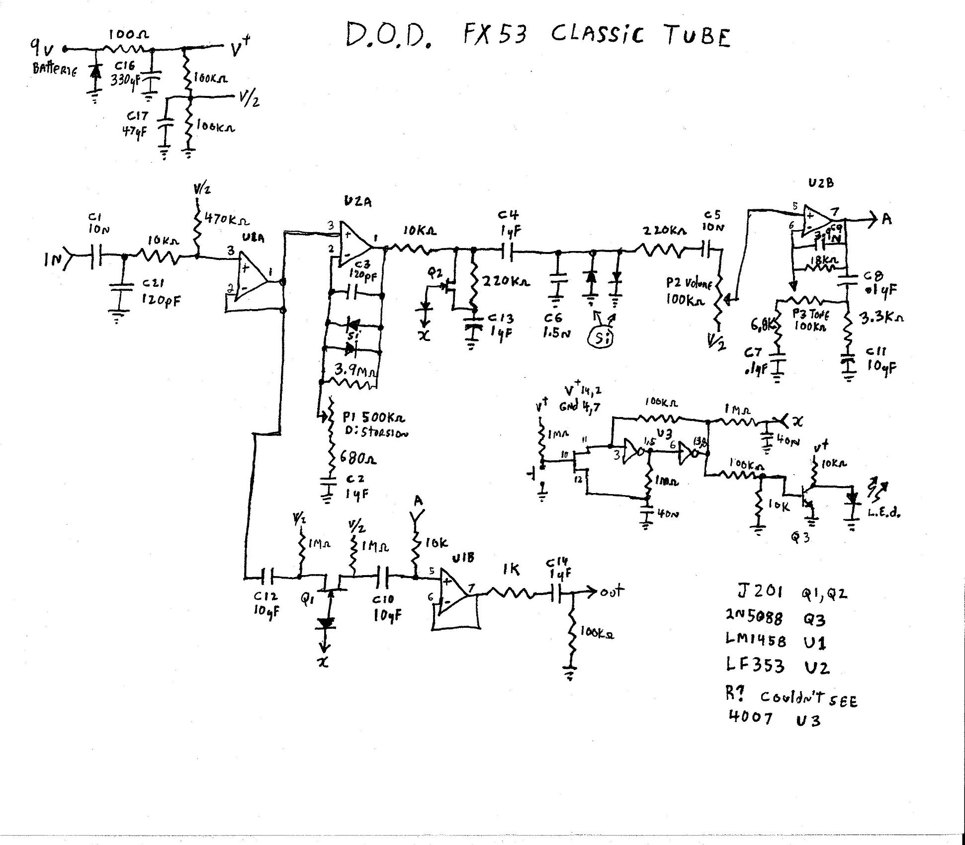 Selected Schematics Ultrasonic Circuit Schematic Free Download Wiring Diagram Related Circuits Fx53 Classic Tube