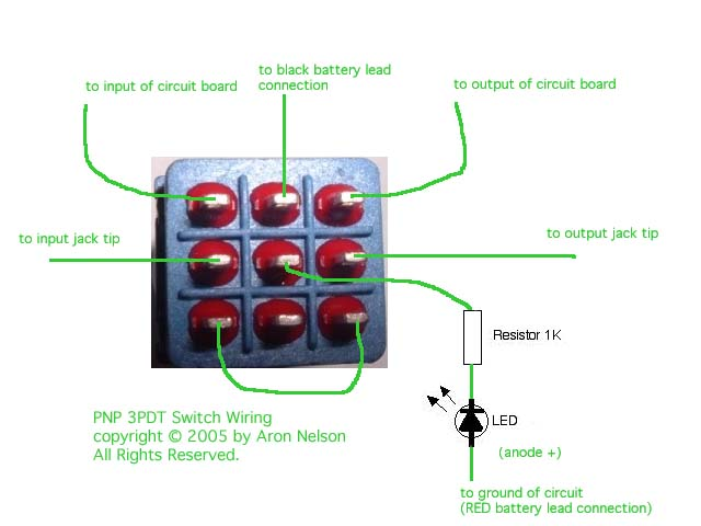 footswitch wiring diagram footswitch wiring stompbox wiring for fuzzface